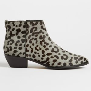 Ted Baker Alinaa Gray Leopard Print Ankle Boots